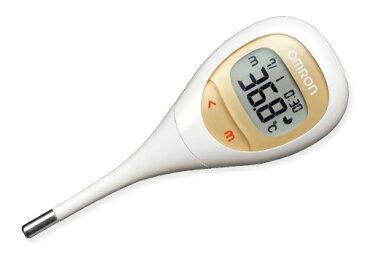 オムロン 電子体温計 MC-682 けんおんくん 平均15秒のスピード検温 先端が柔らかく曲がるので、乳幼児の検温が安心 赤ちゃんのための体温計 わき専用