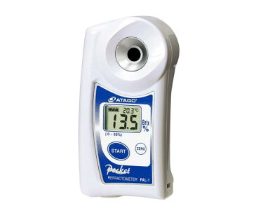 【あす楽】アタゴ ポケット糖度計 糖度・濃度(低・中濃度用)PAL-1  Brix : 0.0〜53.0%  Brix : 0.1%