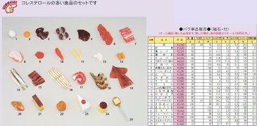 イワイサンプル 糖尿病関連 「コレステロールの多い食品」1式セット/食品サンプル/栄養指導用フードモデル