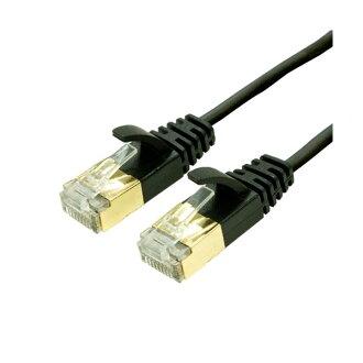 miyoshi CAT.7纖細LAN電纜黑2.0m TWM-702BK