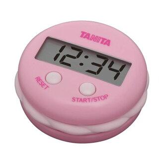 TANITA(百利達)數字計時器號碼盤計時器TD-397草莓粉紅