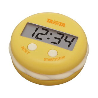 TANITA(百利達)數字計時器號碼盤計時器TD-397芒果黄色