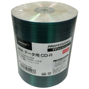 磁気研究所 TYコードシリーズ HIDISC CD-Rデータ用48倍速 700MB 銀盤ノンプリンタブルシュリンクパック100枚 TYCR80YS100B-6P【6個セット】