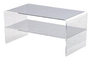 ■送料無料■幅80cmクリアなアクリルを使ったシンプルでシャープなアクリルテーブル(AHT-633)