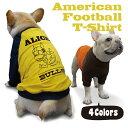 【名入れ】アメフト ラグラン Tシャツ 【犬の洋服 / フレンチブルドッグ パグ フレブル 向け 犬 服 】【メール便 送料無料】