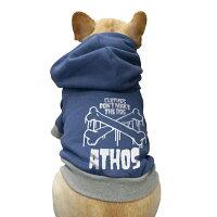 [名入れ]クロスボーンパーカー中型犬とフレンチブルドッグとパグ犬服/色全20色