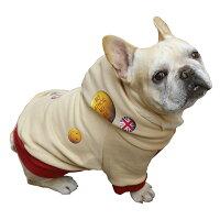 [名入れ]缶バッジパーカー/全8色中型犬とフレンチブルドッグとパグ犬服/色全20色