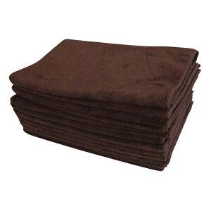 12枚 セット マイクロファイバータオル 業務用タオル としても使用可能な マイクロファイバー ...