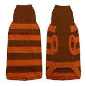 クーポン付き♪ボーダータートルネック ニット第二弾:オレンジ 犬服 [ 犬 の 洋服 フレンチブルドッグ パグ 向け 犬 服 ]【メール便OK】【あす楽対応】