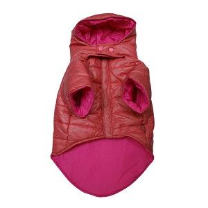 対象: フレンチブルドッグ 服 パグ服 犬服フード付きの ダウン コート です。うっすらチェック...