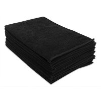 250匁フェイスタオル10枚セット:ブラック(全9色)【無地】【業務用タオル】【両面パイル地】【あす楽対応】