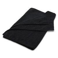 マイクロファイバーフェイスタオル:ブラック(10枚セット)【34x85cm】【無地】【業務用タオル】【業務用フェイスタオル】