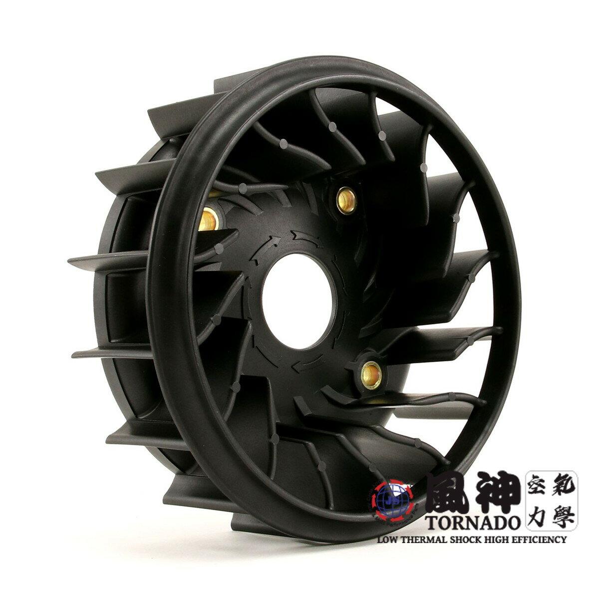 風神 空気力学 TORNADO CYGNUS X(シグナスX)BW`S125 高効率クーリングファン ブラック画像