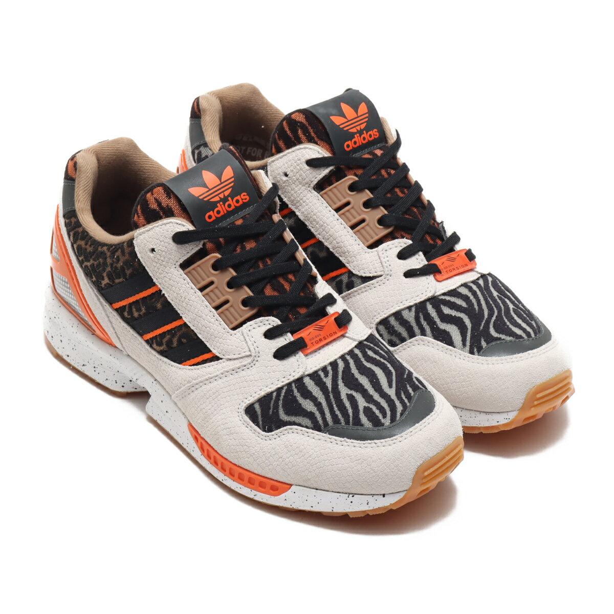 メンズ靴, スニーカー adidas ZX 8000 ATMOS( ZX 8000 )CORE BLACKCRYSTAL WHITEORANGE 20FW-S atp21ssl