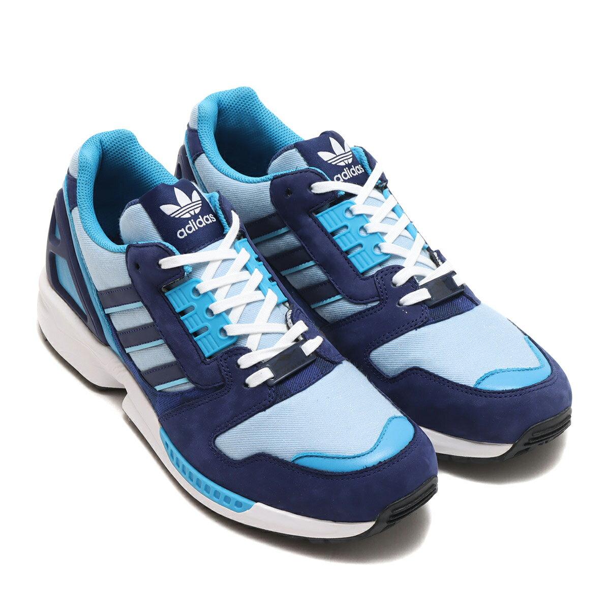 メンズ靴, スニーカー adidas ZX8000 DENIM atmos( 8000 )NIGHT SKYBRIGHT CYANHAZY BLUE 21FW-S