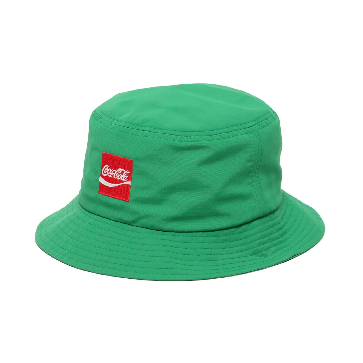 COCA COLA by ATMOS LAB NYLON BUCKET HAT(コカコーラ バイ アトモスラボ ナイロン バケット ハット)GREEN【メンズ ハット】19SS-S