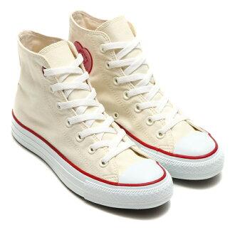 CONVERSE ALL STAR HEARTPATCH HI(NATURAL/RED)(修補匡威全明星心,高)[Kinetics][男女兩用][CHUCK TAYLOR][拉鎖·泰勒][運動鞋][街道][17SP-I]