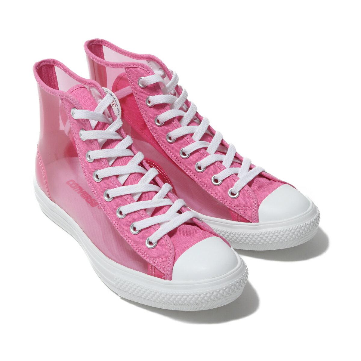 メンズ靴, スニーカー CONVERSE ALL STAR LIGHT CLEARMATERIAL HI( )PINK 19FW-S