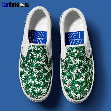 crocs NORLIN ATMOS FLORAL SLIP-ON(クロックス ノーリン アトモス フローラル スリッポン)WHITE/WHITE【メンズ レディース スニーカー】16SS-S