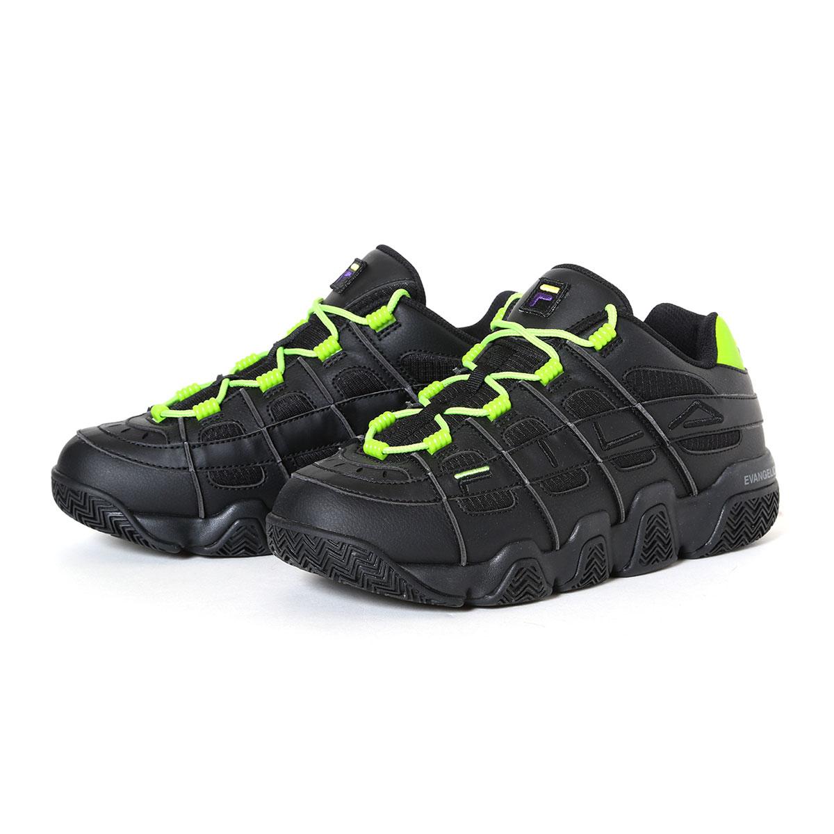 メンズ靴, スニーカー FILA BARRICADE XT 97 EVANGELION LIMITED( XT97 )BLKWHTGREEN 20SS-S atpss20