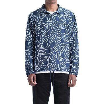 Herschel Supply Co VOYAGE COACH JACKET(ハーシェル サプライ ヴォヤージュ コーチ ジャケット)Peacoat Keith Haring【メンズ ジャケット】17FA-I