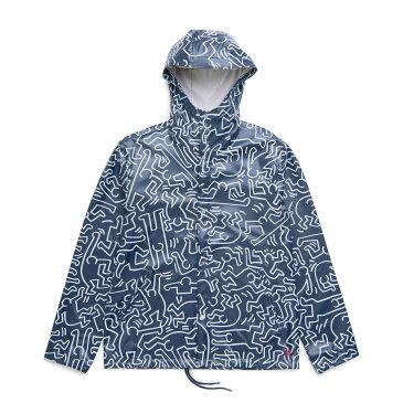 Herschel Supply Co FORECAST HOODED COACH JACKET(ハーシェル サプライ フォーキャスト フーデッド コーチ ジャケット)Peacoat Keith Haring【メンズ ジャケット】17FA-I