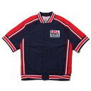 Mitchell & Ness Auth WU Jacket - USA92 M.Jordan(ミッチェルアンドネス マイケル・ジョーダン ウォーミングアップジャケット)NAVY【メンズ 半袖Tシャツ】19FW-I