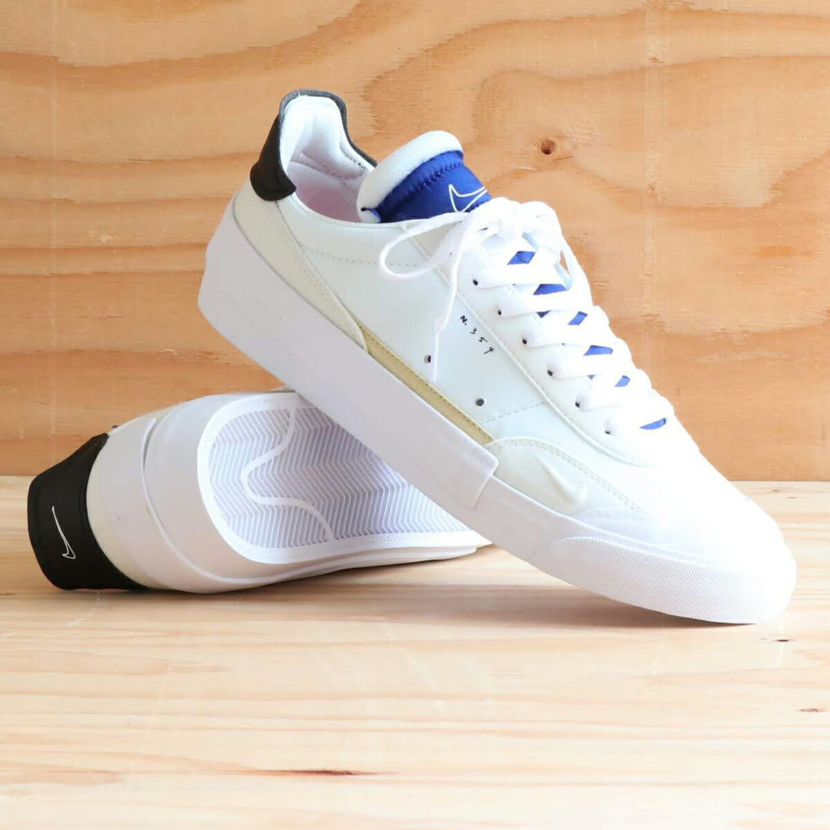 NIKE DROP-TYPE(ナイキ ドロップ タイプ)SUMMIT WHITE/BLACK-WHITE-DEEP ROYAL BLUE【メンズ スニーカー】19FA-S atpss20画像