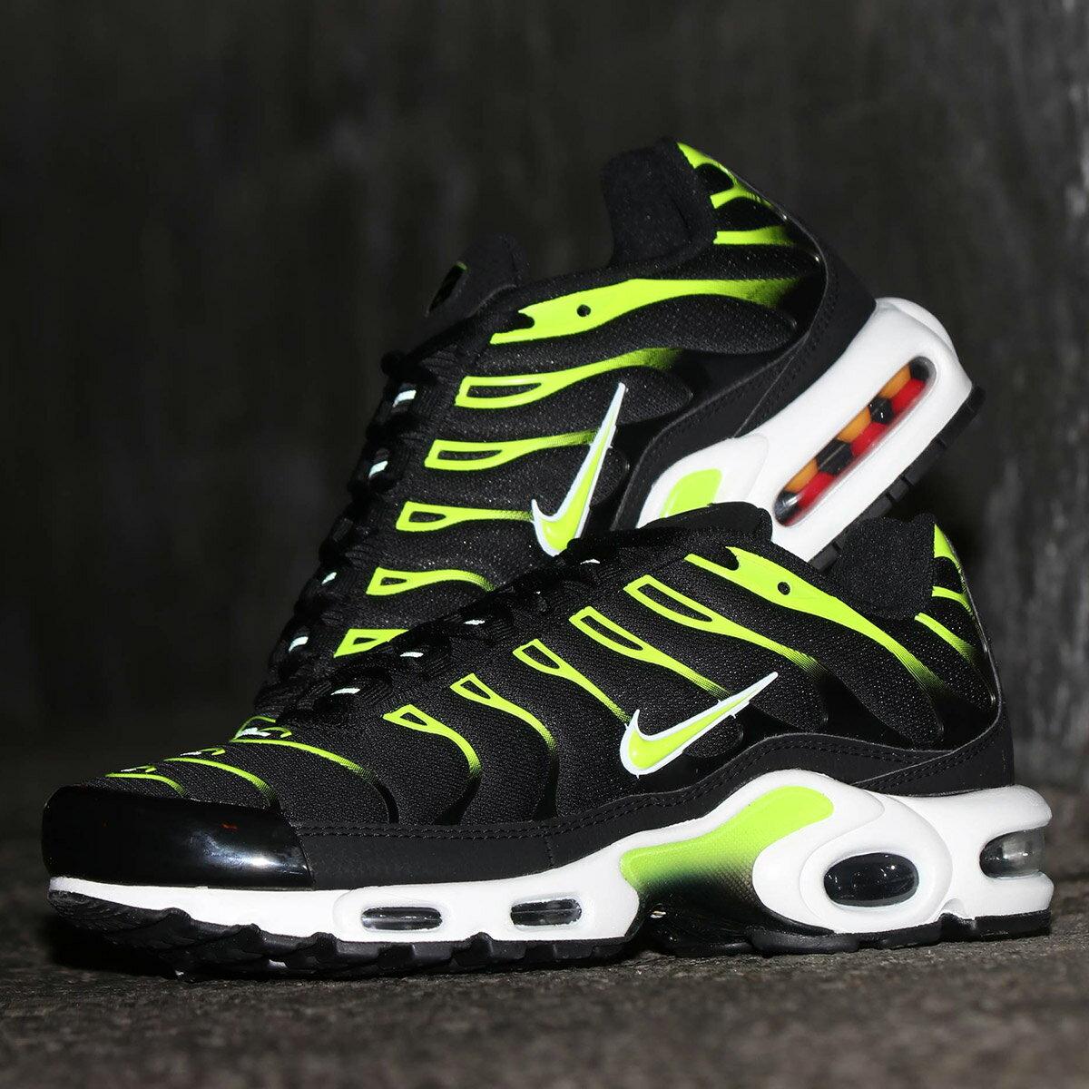 メンズ靴, スニーカー NIKE AIR MAX PLUS( )BLACKVOLT-WHITE-PLATINUM TINT 19SP-I atpss20