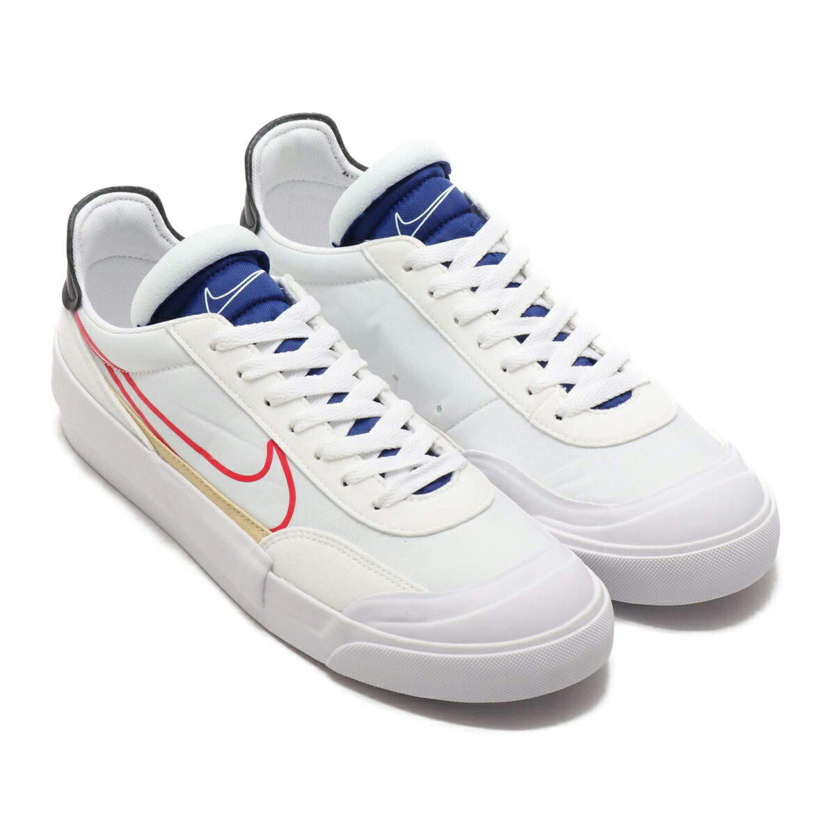 NIKE DROP-TYPE HBR(ナイキ ドロップ タイプ HBR)WHITE/UNIVERSITY RED-DEEP ROYAL BLUE【メンズ スニーカー】20SP-I atpss20画像