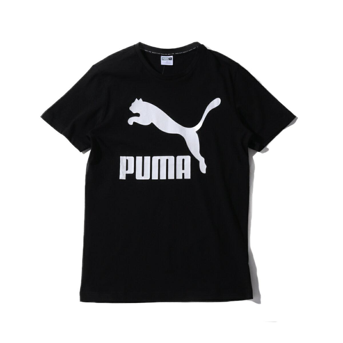 トップス, Tシャツ・カットソー PUMA CLASSIC LOGO SS TEE atmos( )BLACK T19SP-S