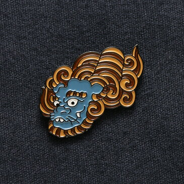 UBIQ IREZUMI PINS THREE TIDES TATTOO(ユービック ピンズ スリータイズタトゥー) (SHISHI (BLUE) Designed by NAMI)17FW-I