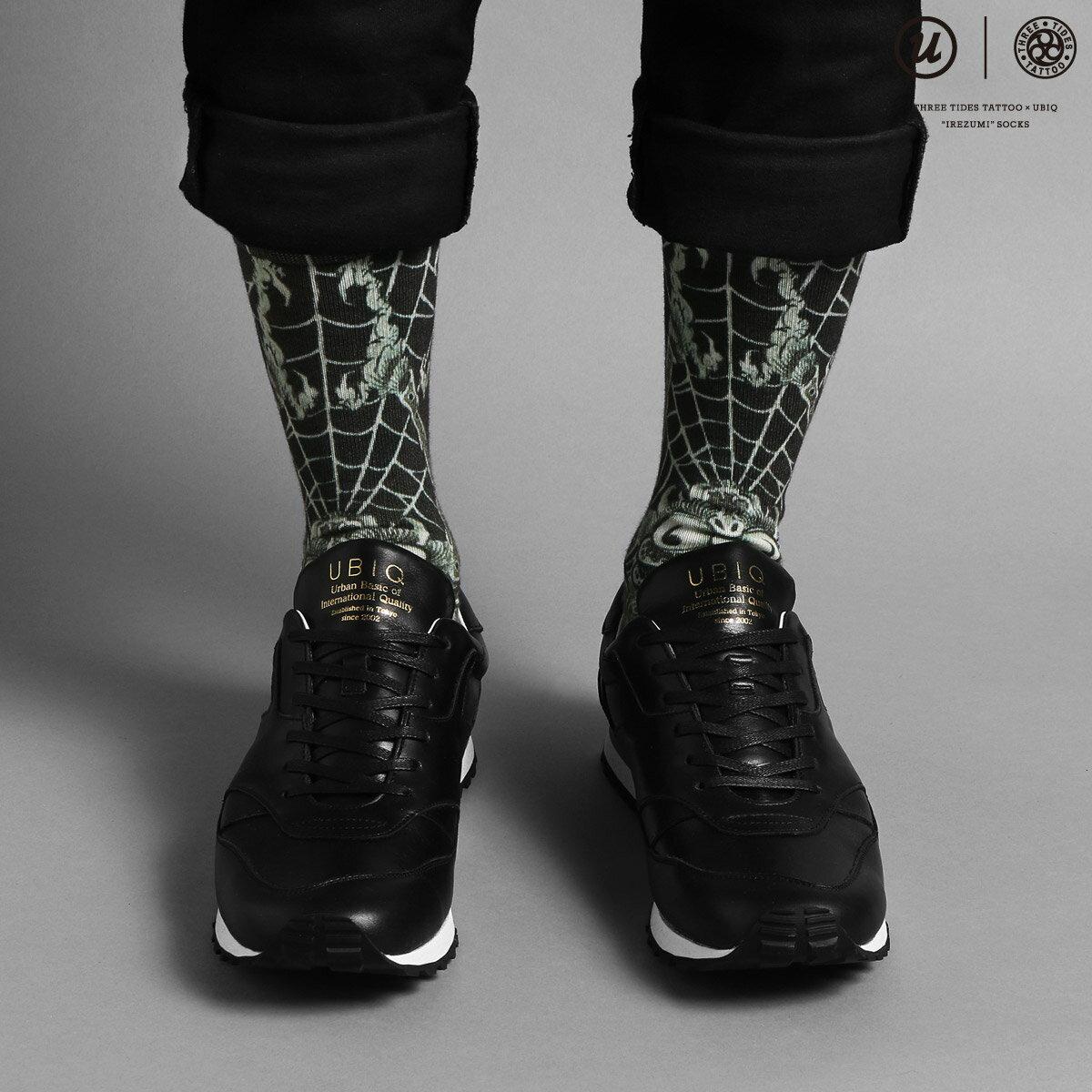 靴下・レッグウェア, 靴下 UBIQ THREE TIDES TATTOO UBIQ IREZUMI SOCKS (Dokugumo) Designed by Ganji ( () ) (BLACK) 17SS-I
