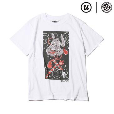 "UBIQ THREE TIDES TATTOO × UBIQ ""IREZUMI"" T-SHIRT(Hannya) Designed by Horihiro Mitomo(スリータイズタトゥー ユービック イレズミ Tシャツ(ハンニャ) デザインド バイ ホリヒロ ミトモ)(WHITE)17SS-I"