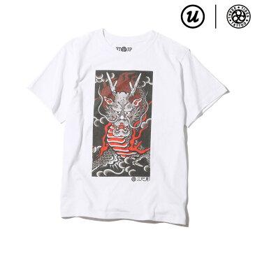 "UBIQ THREE TIDES TATTOO × UBIQ ""IREZUMI"" T-SHIRT(Ryu) Designed by Ichibay(スリータイズタトゥー ユービック イレズミ Tシャツ(リュウ) デザインド バイ イチベイ)(WHITE)17SS-I"