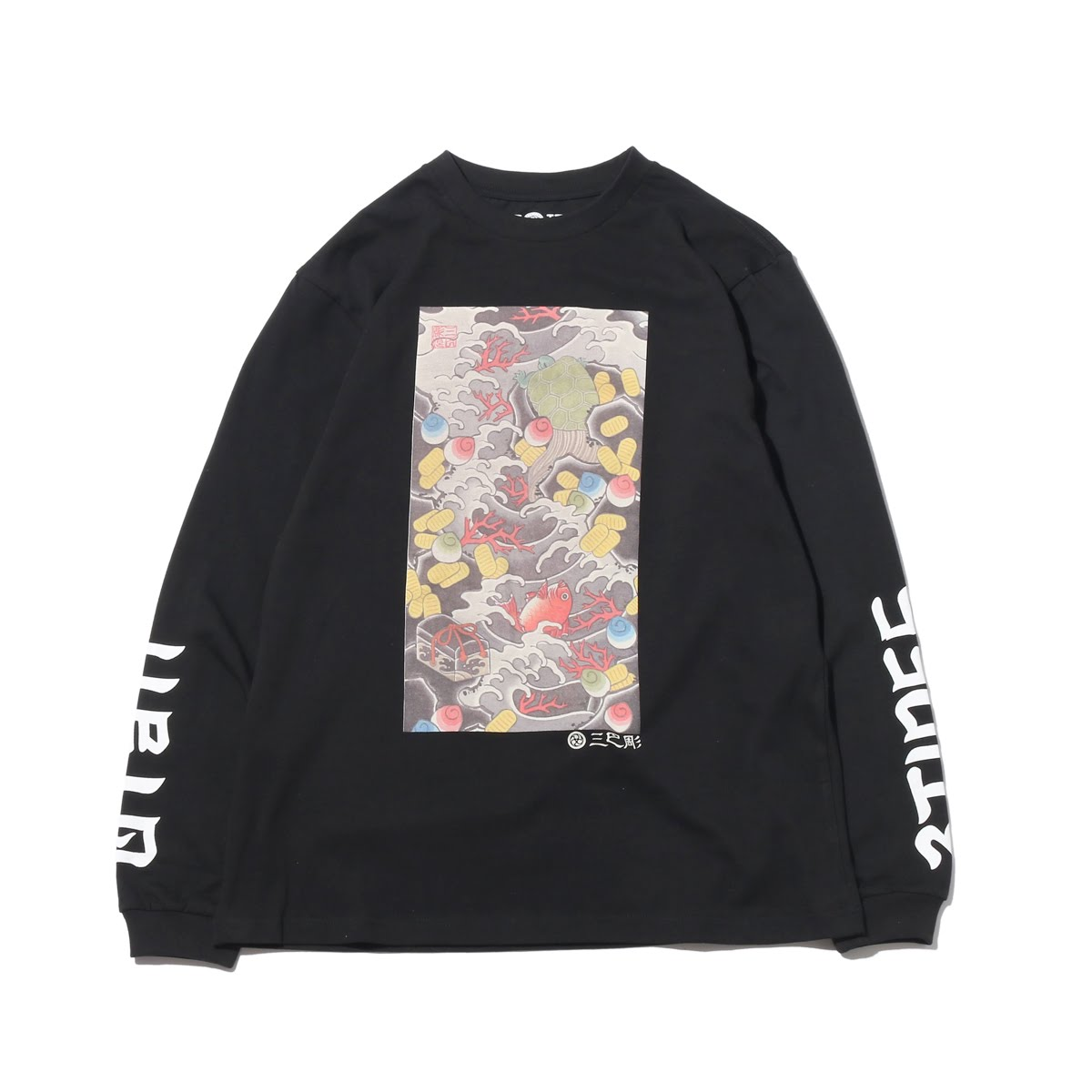 "UBIQ ""IREZUMI"" LS T-SHIRT(Takarazukushi) Designed by NAMI(イレズミ ロングスリーブ Tシャツ(タカラズクシ) デザインド バイ ナミ)(BLACK)18SS-I"