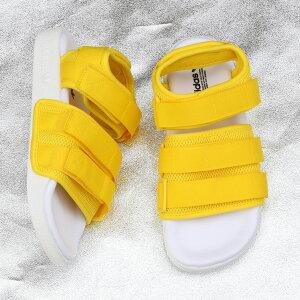 """451dd52f89e4 adidas Originals ADILETTE SANDAL 2.0 W (アディダス オリジナルス アディレッタ サンダル 2.0 W)  Yellow Running Whi... アイコニックな""""アディレッタ""""に新たな解釈 ..."""