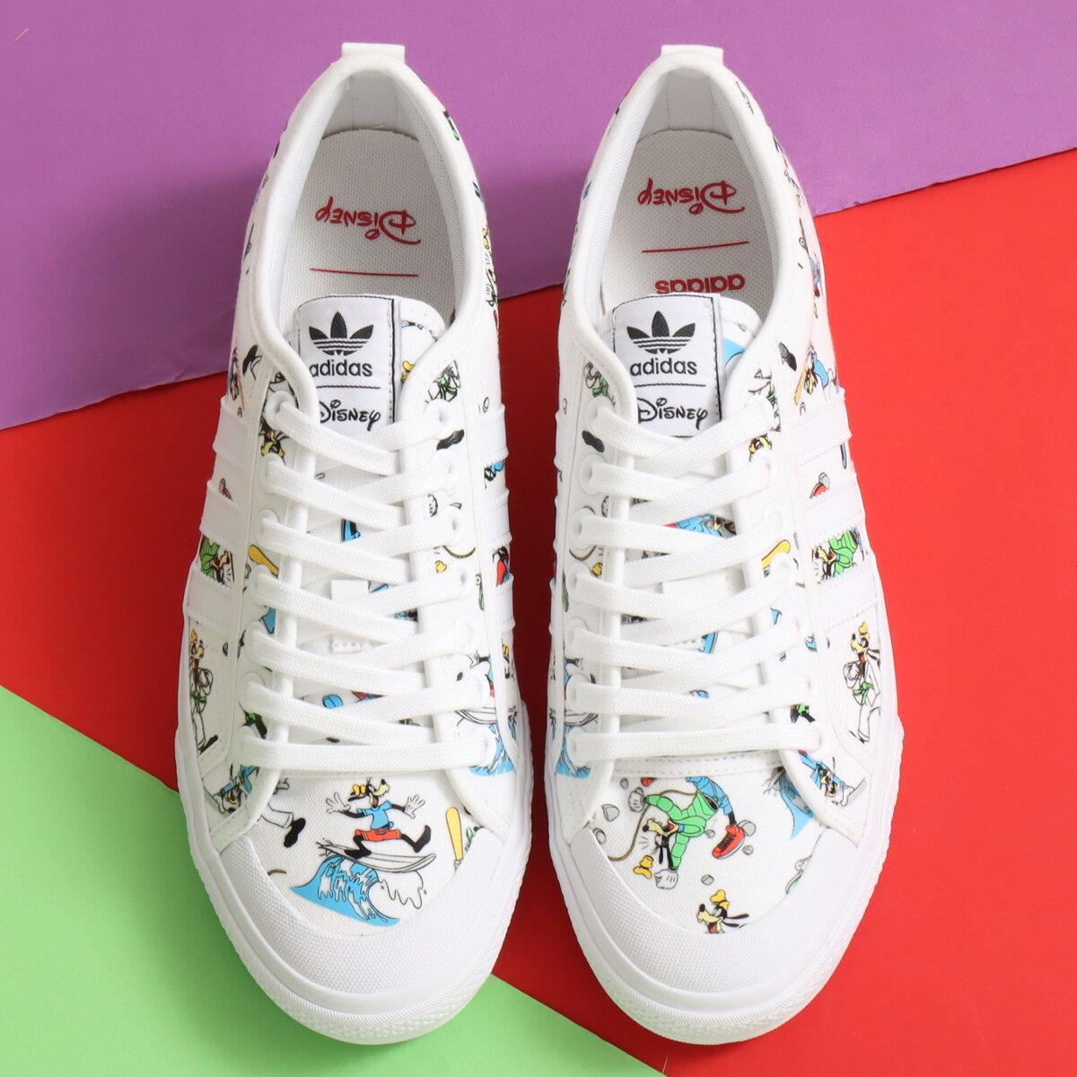 メンズ靴, スニーカー adidas NIZZA X DISNEY SPORT GOOFY( x )FOOTWEAR WHITESCARLETCORE BLACK 20FW-I