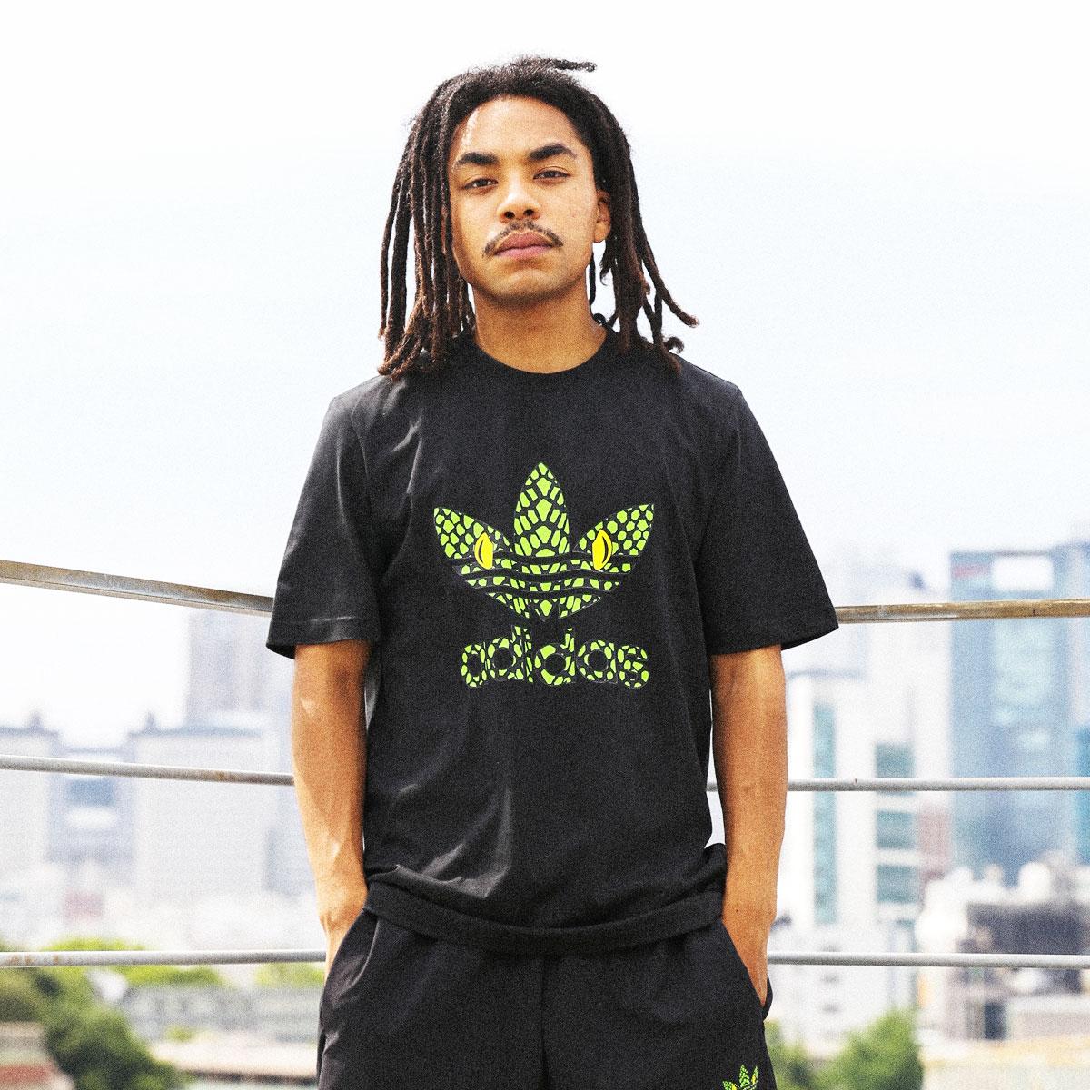 トップス, Tシャツ・カットソー adidas GID TEE ATMOS G-SNK( GID T G-SNK)BLACK T20SS-S at20-c