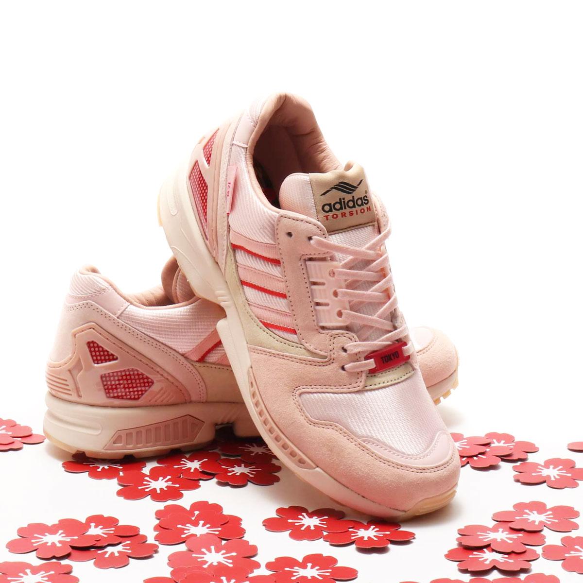 メンズ靴, スニーカー adidas ZX 8000( 8000)ICY PINKGLORY REDVAPOR PINK 20SS-S