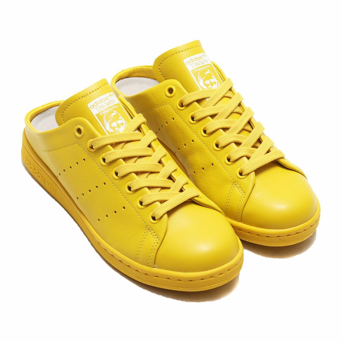 adidasSTANSMITHMULE(アディダススタンスミスミュール)TRIBEYELLOW/TRIBEYELLOW/FOOTWEARWHITE【レディースサンダル】20SS-S