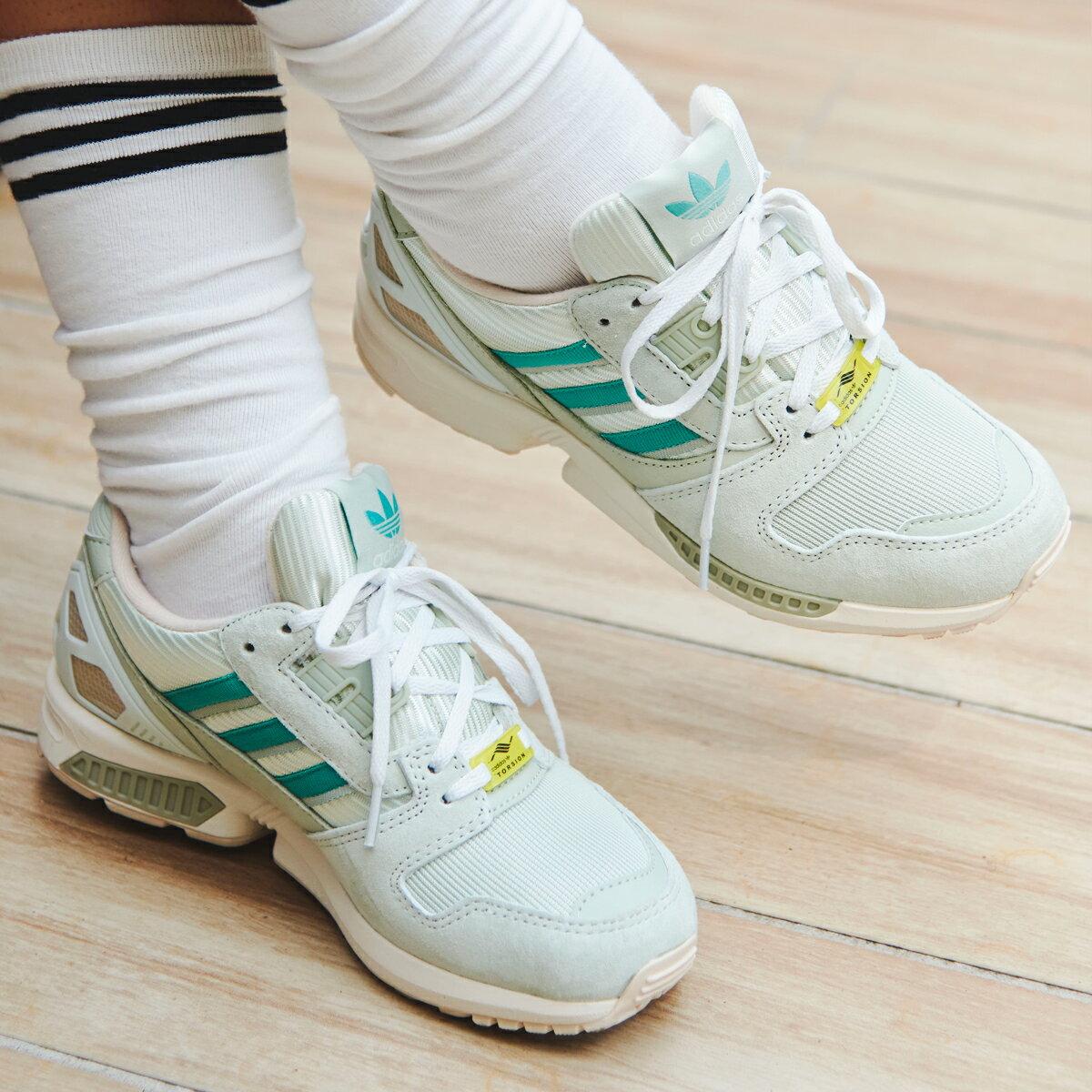 メンズ靴, スニーカー adidas ZX 8000( 8000)LINEN GREENFADE OCEANHALO GREEN 21FW-I