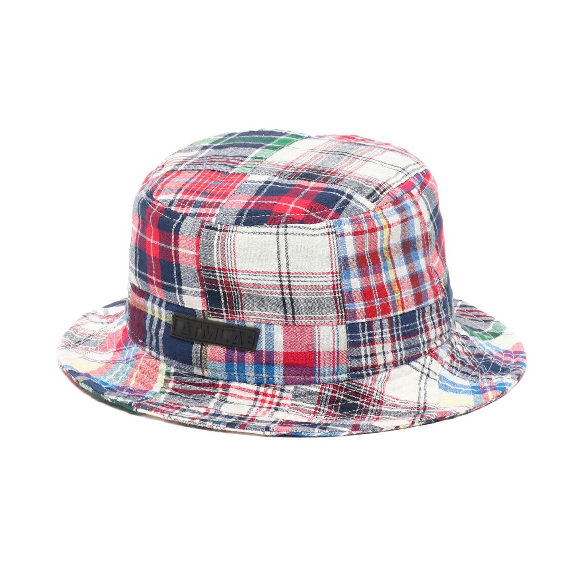 メンズ帽子, ハット ATMOS LAB PATCHWORK BUCKET HAT( )NAVY 19SP-I