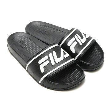 FILA SLEEK SLIDE LT(フィラ スリーク スライド LT)BLACK/WHITE【メンズ レディース サンダル】17SU-I