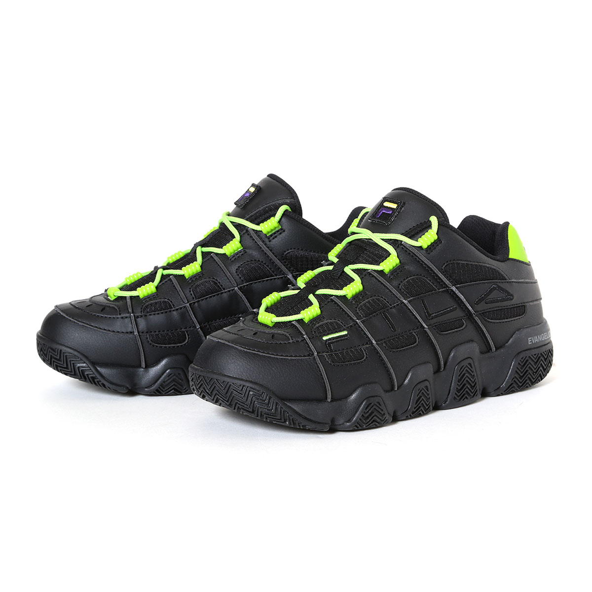 メンズ靴, スニーカー FILA BARRICADE XT 97 EVANGELION LIMITED( XT97 )BLKWHTGREEN 20SS-S at20-c