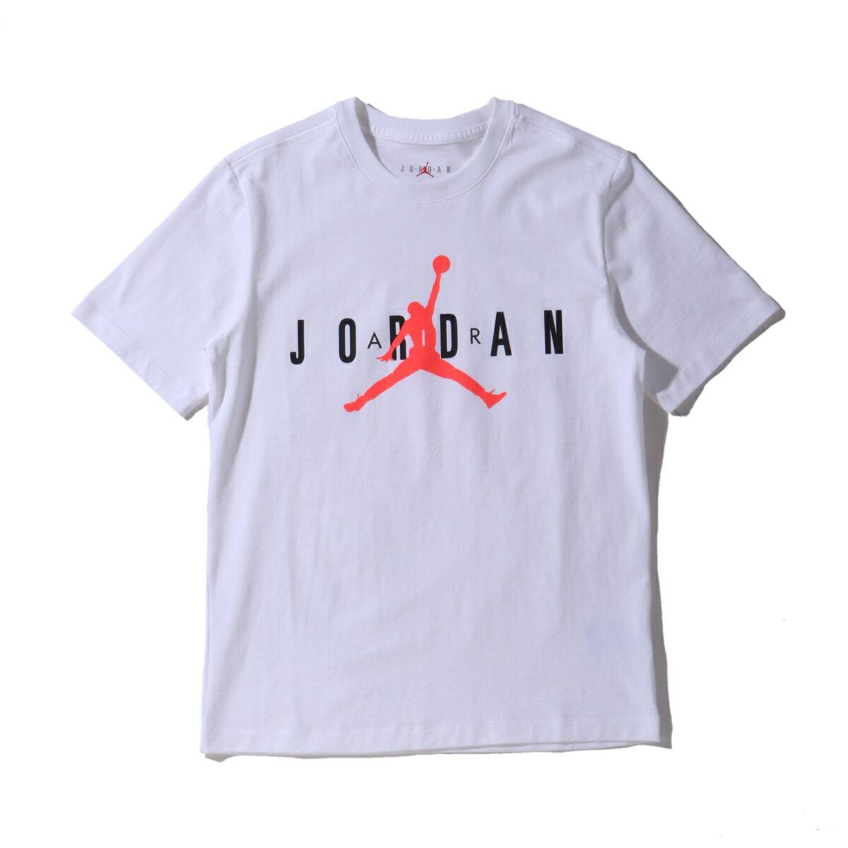 トップス, Tシャツ・カットソー JORDAN BRAND AS M J SS CTN JRDN AIR WRDMRK( CTN JRDN SS)WHITEBLACKINFRARED 23 T20SU-I