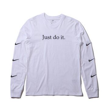 NIKE AS M NSW TEE LS JDI+ 2(ナイキ JDI+ 2 L/S Tシャツ)WHITE/BLACK【メンズ 長袖Tシャツ】18HO-I