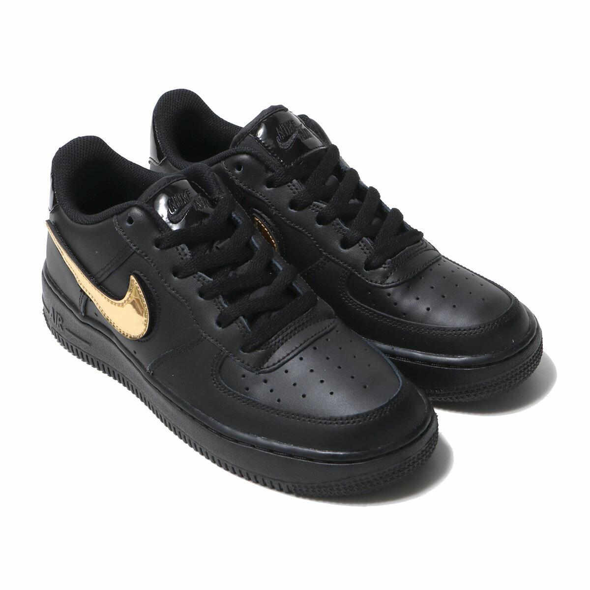 靴, スニーカー NIKE AIR FORCE 1 LV8 3(GS) 1 LV8 3 GS(BLACKBLACK-BLACK-WHITE) 19FA-I