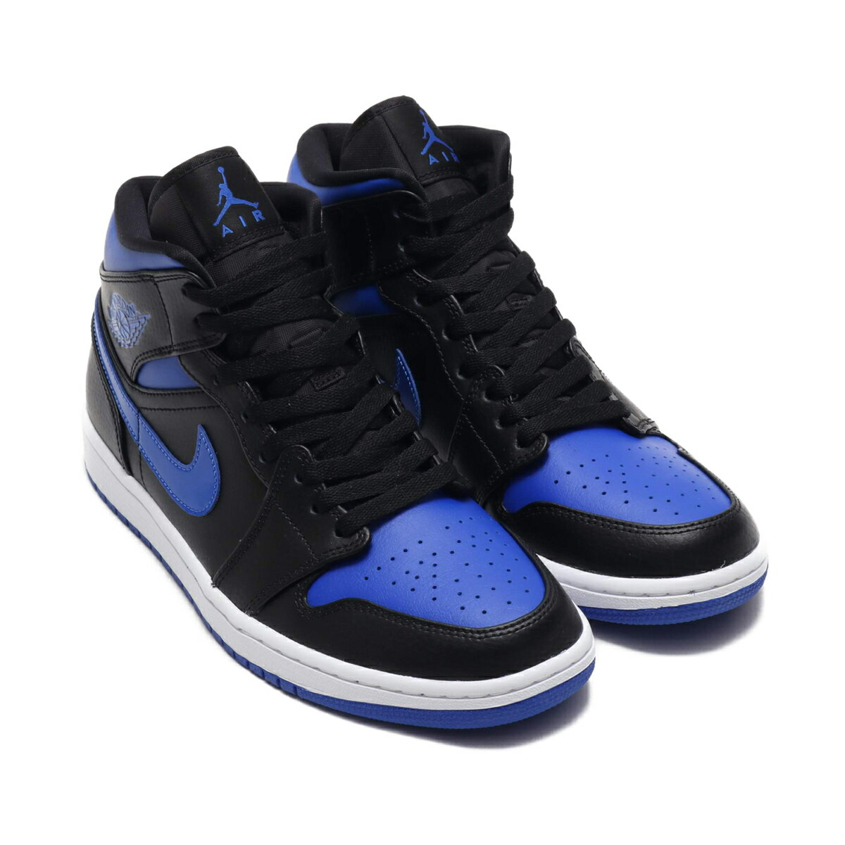 メンズ靴, スニーカー NIKE AIR JORDAN 1 MID( 1 MID)BLACKHYPER ROYAL-WHITE 20SP-I