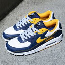 NIKE AIR MAX 90(ナイキ エア マックス 90)WHITE/UNIVERSITY GOLD-MIDNIGHT NAVY【メンズ スニーカー】21SU-I・・・